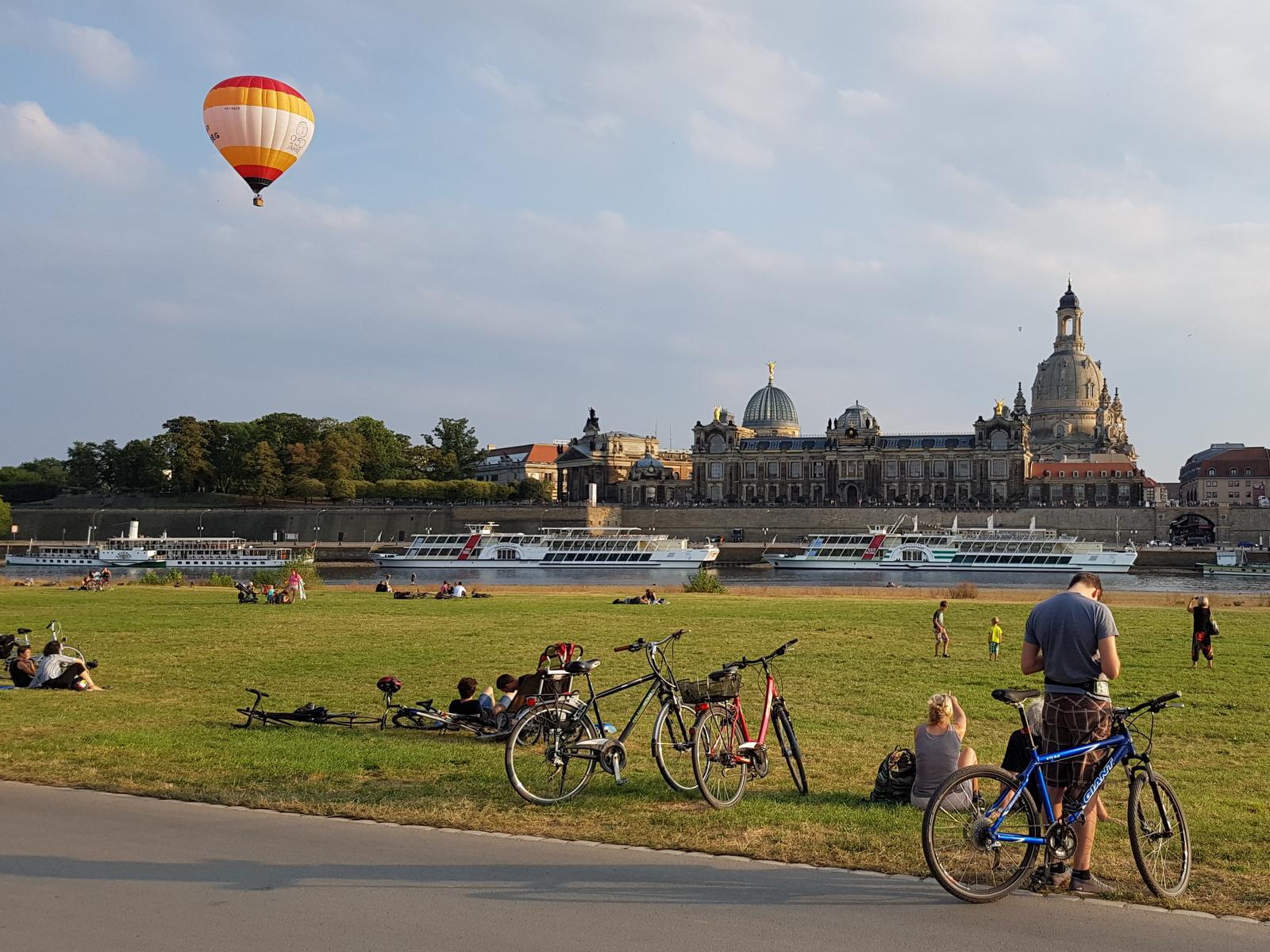 Dresden per Fahrrad, das ist echter Hochgenuss